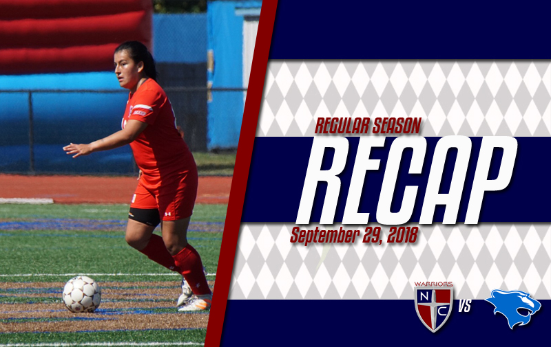 Women's Soccer Falls to CACC Leaders Georgian Court on the Road