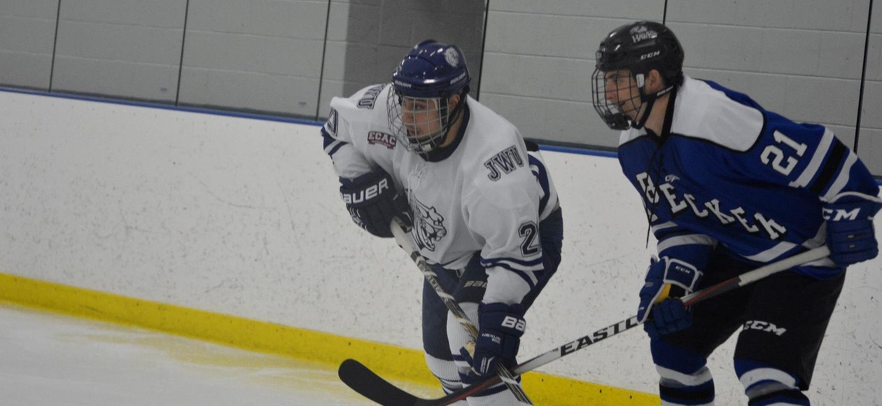 Men's Ice Hockey Goes on the Road to Beat Becker 4-0