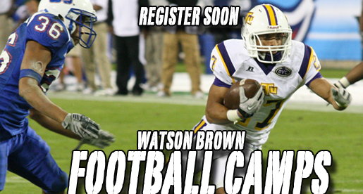 Watson Brown Football Camps coming up at Tennessee Tech