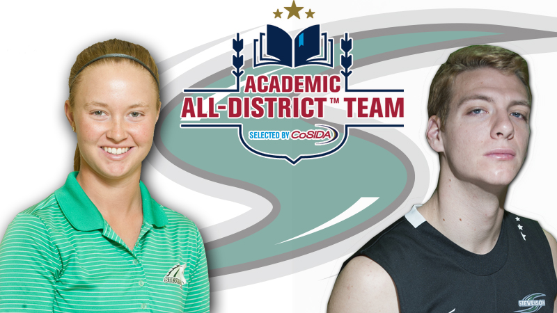 Greene, Wingert Earn CoSIDA Academic All-District Honors
