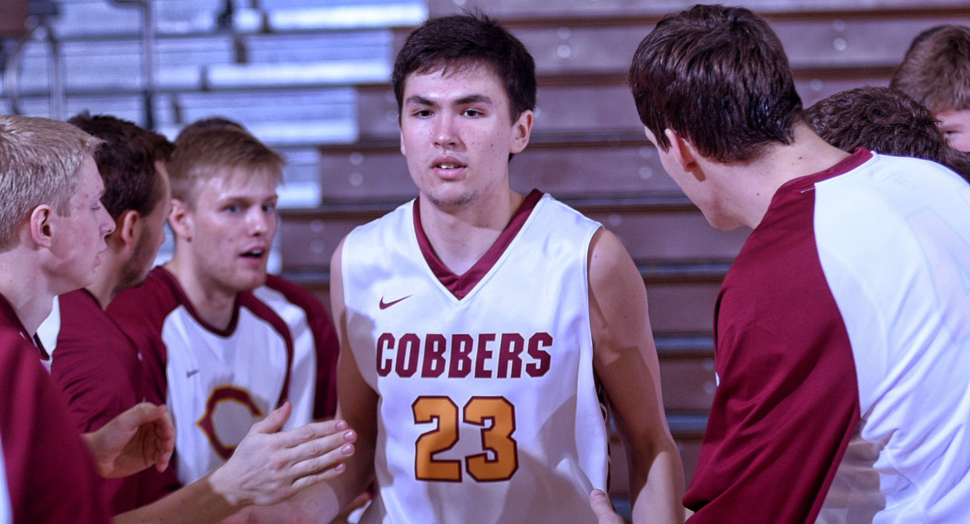 Senior Jordan Davis posted career high numbers in points and rebounds in the Cobbers' game at St. Scholastica.