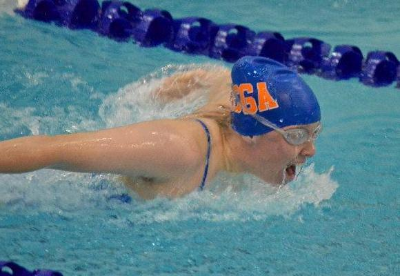 Women's Swimming and Diving Fifth After Day One
