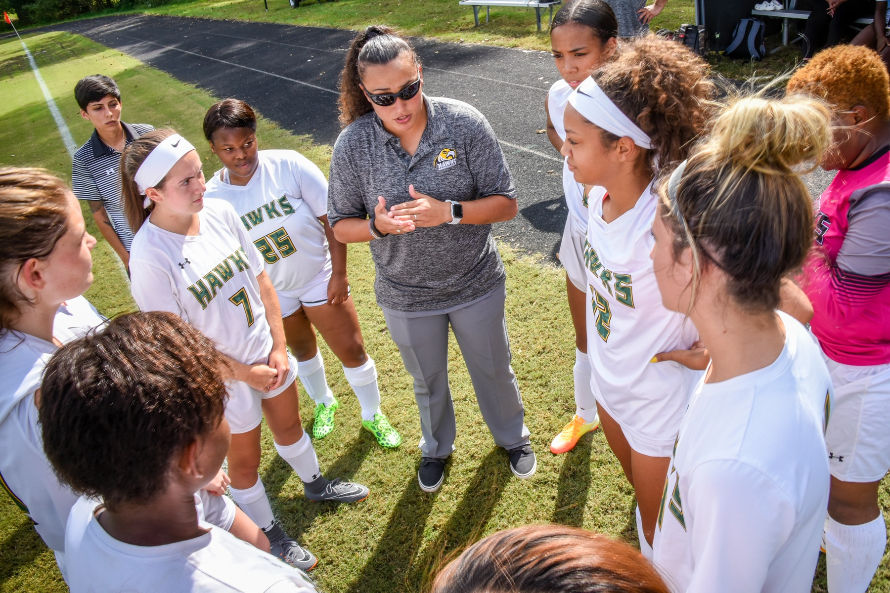 CSM Head Coach Nina Duron and the CSM Women's Soccer Team