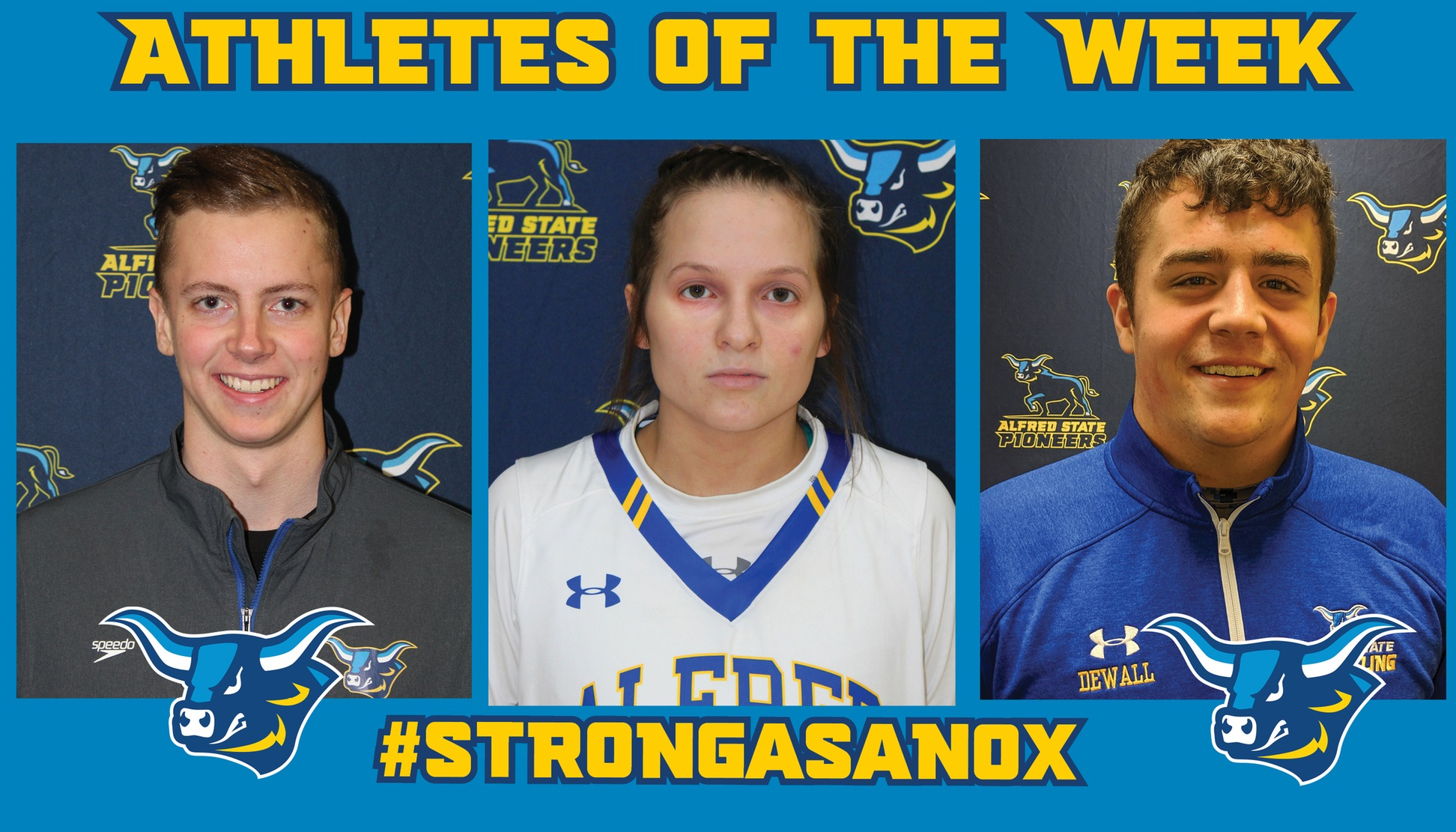 Westin Perry, Ray Anderson, and Jacob DeWall named Alfred State Athletes of the Week