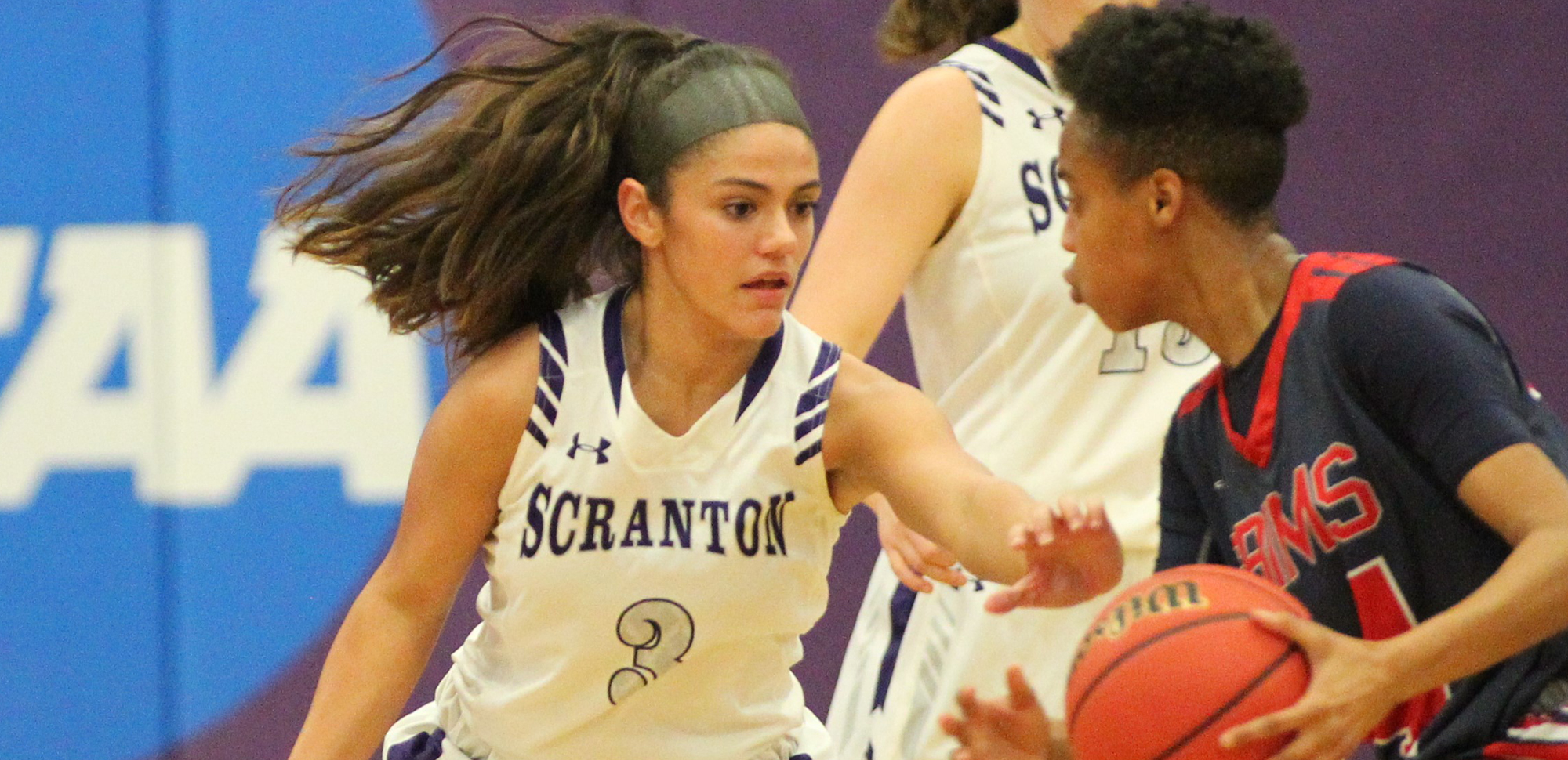 Sophomore Taylor Rodriguez scored in double figures in both games over the weekend in the NCAA Tournament, and for her efforts, she was named The University of Scranton Athlete of the Week on Monday.
