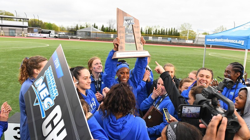 Women's Track Wins First NEC Outdoor Championship