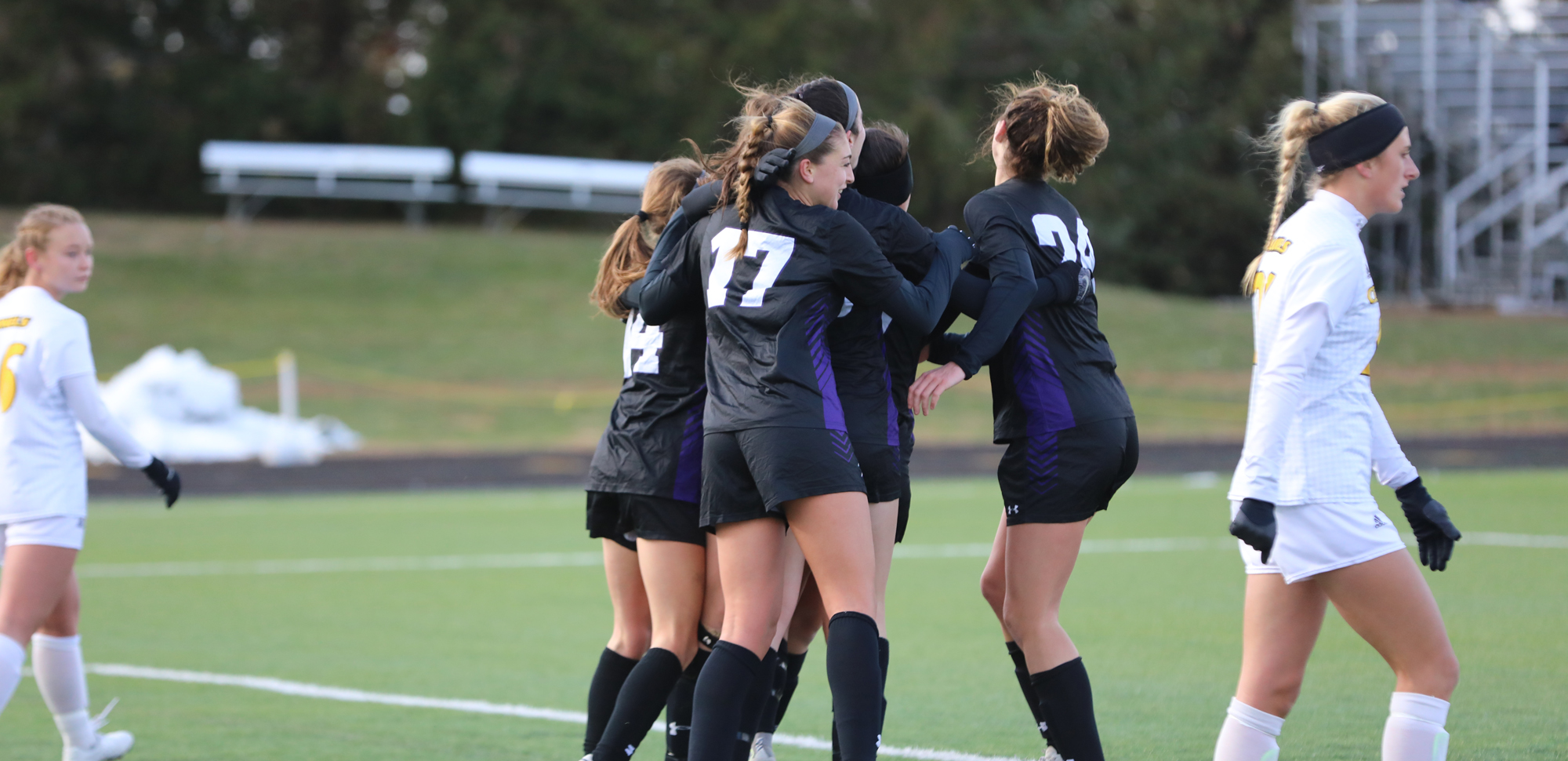 The University of Scranton women's soccer team advanced on penalty kicks against No. 10 Centre in the first round of the NCAA Tournament on Saturday. Photo Credit: Ohio Norther University Sports Information.