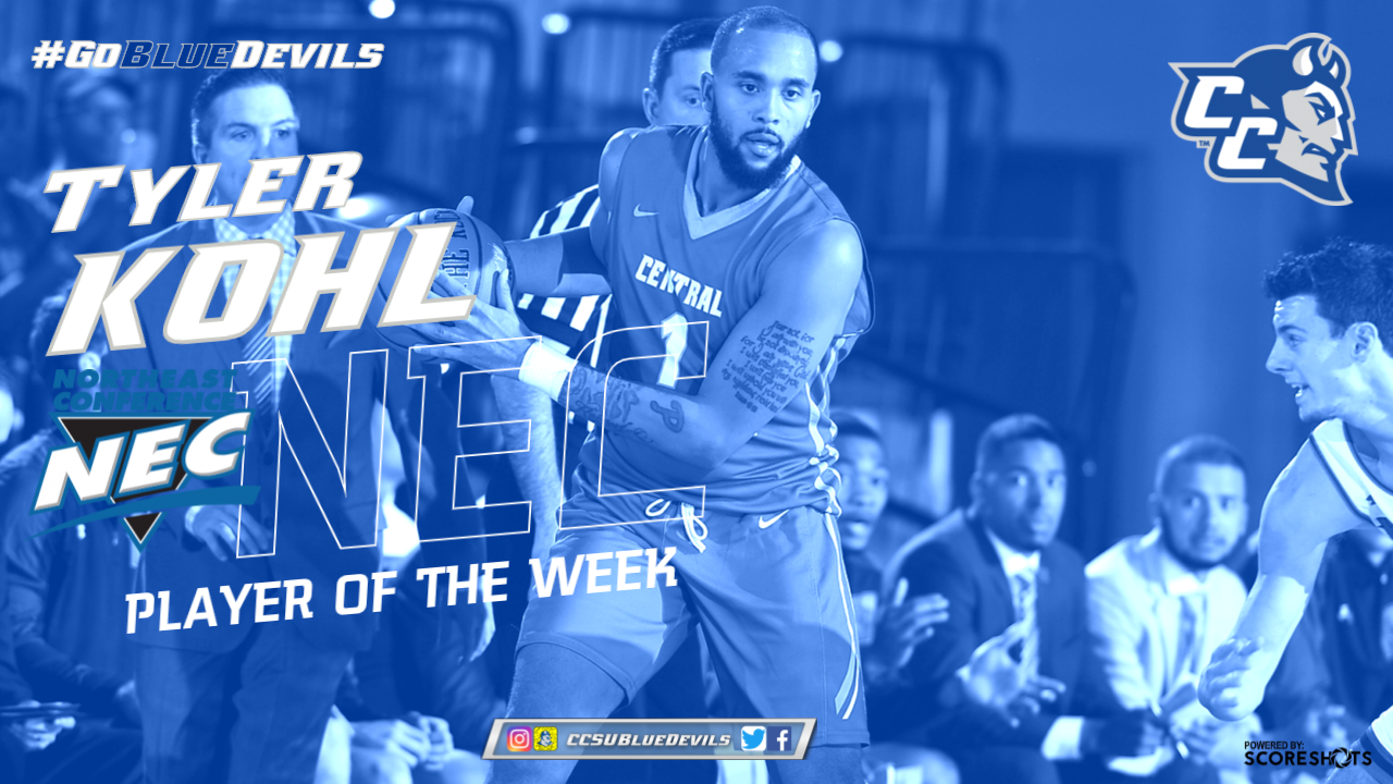 Kohl Named NEC Men's Basketball Player of the Week