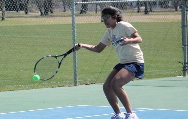 Coker Falls to Barton in Women's Tennis Action, 6-3