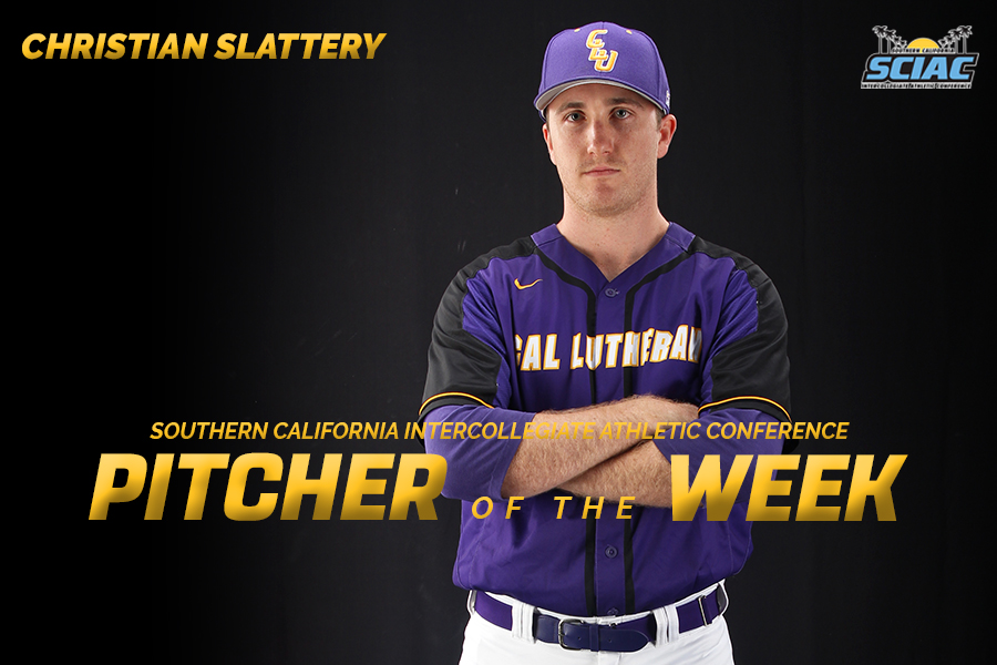 Slattery Named SCIAC Pitcher of the Week