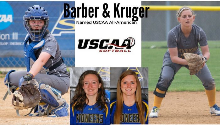 Barber and Kruger Named USCAA All-American