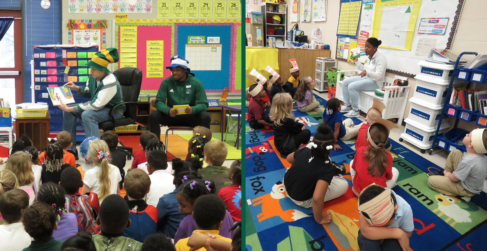 Bobcats Participate in Read Across America Day
