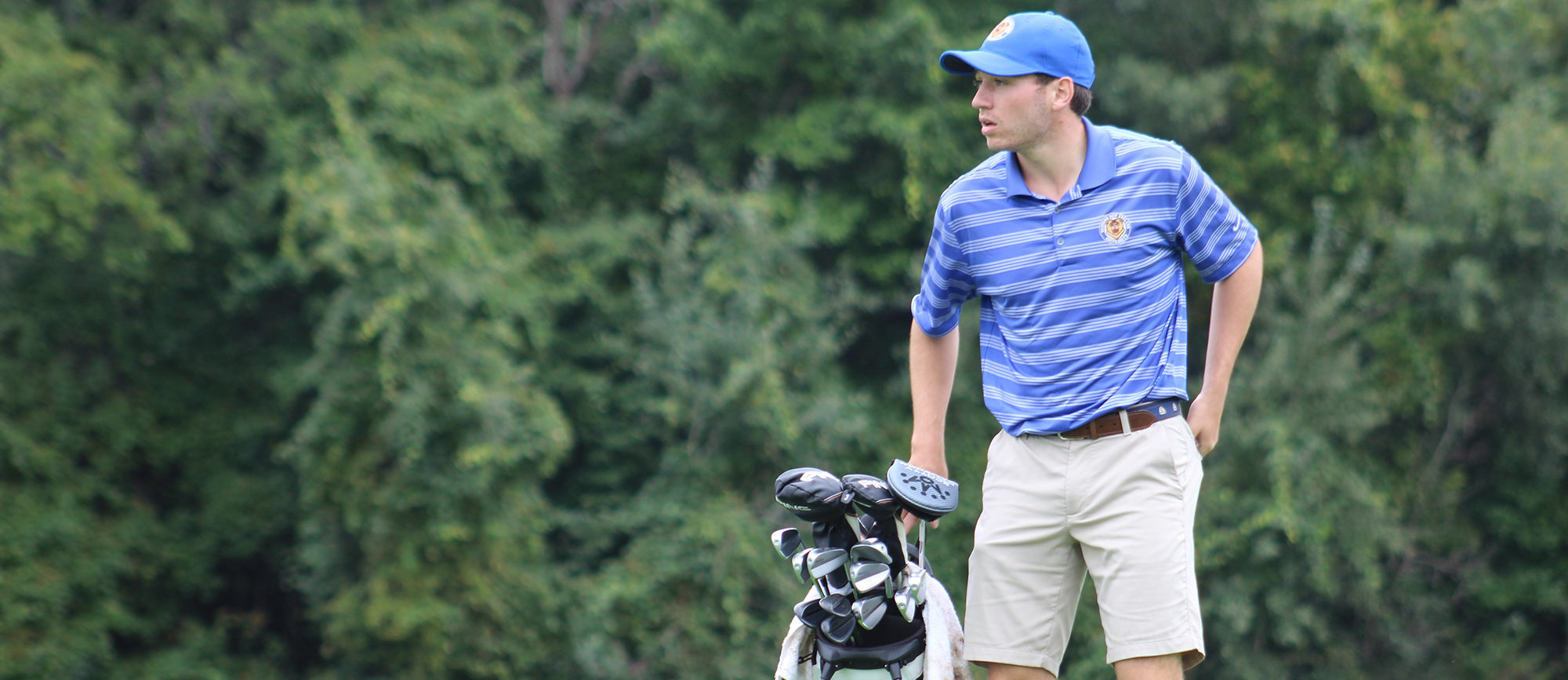 Sophomore Ryan Zogby shot an opening round 78 on Saturday at the Williams Fall Invitational. (Photo by Erin Stanton)