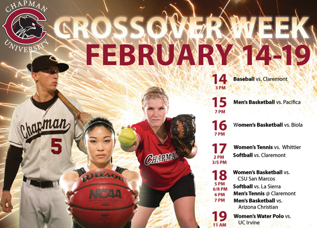 Crossover Week invades Chapman Athletics