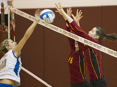 Ferris Volleyball Blanks Lake Superior State