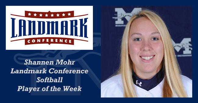 Mohr Named Landmark Conference Softball Player of the Week