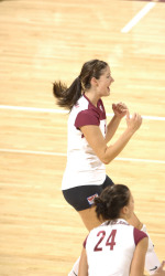 No. 19 Santa Clara Volleyball Sweeps Georgia Southern, 3-0