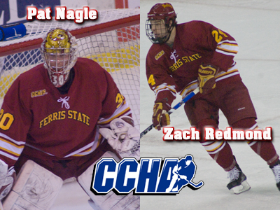 Nagle and Redmond Receive CCHA Weekly Awards
