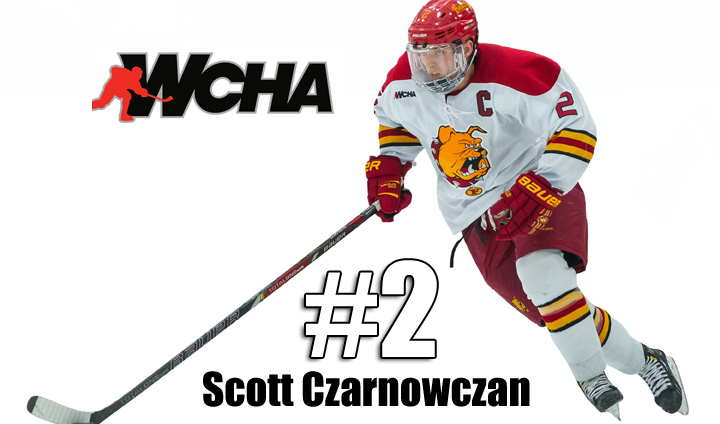 Captain Scott Czarnowczan Earns WCHA Honor After Leading Bulldogs To League Crown