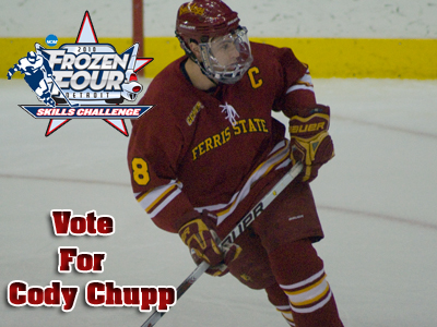 Vote Ferris State's Cody Chupp For Frozen Four Skills Challenge