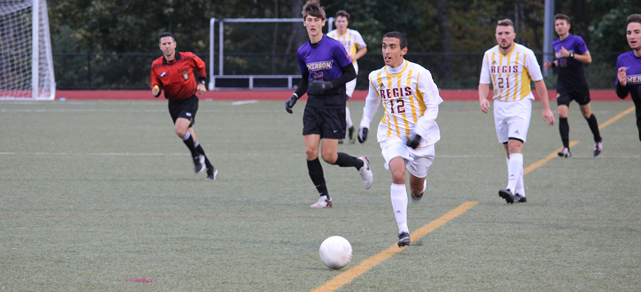 Triana Nets Two, Men's Soccer Edges Anna Maria In GNAC Opener