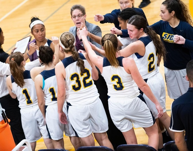 Women's Basketball Falls Short in Coaches Vs. Cancer Finale
