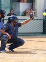 Catcher Briana Lopez was 3-for-4 at the plate and picked off a runner.
