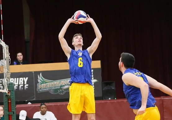 McDONAGH HITS 2,000 ASSISTS IN MEN'S VOLLEYBALL SWEEP OVER PINE MANOR