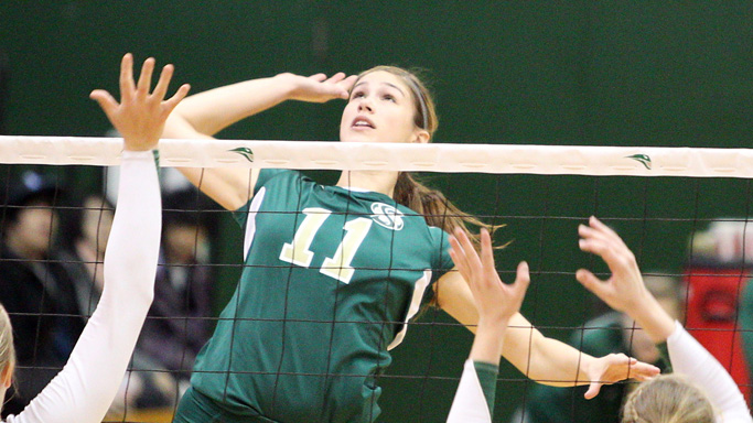 Middle blocker Kelsey Elston, who played from 2008-11, is one of 11 former players slated to play in the Alumni Match.