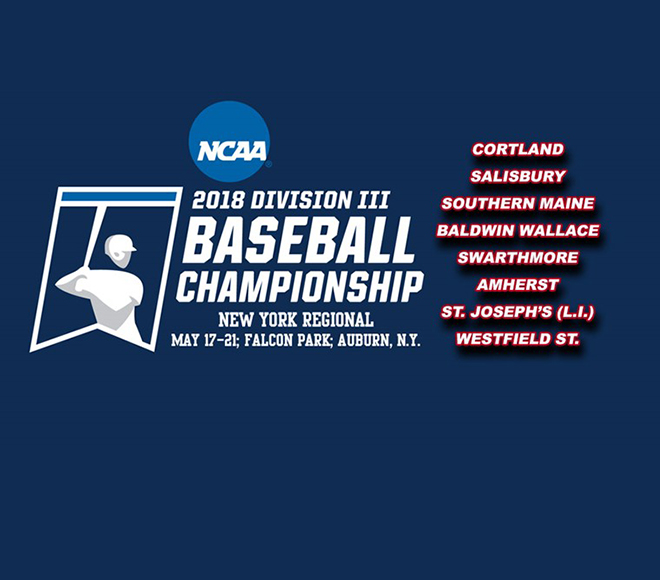 Cortland Top Seed and Host of Baseball Regional in Auburn May 17-21