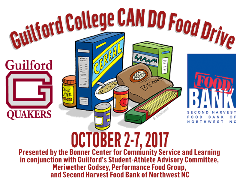 Guilford Athletics Participates in CAN DO Food Drive