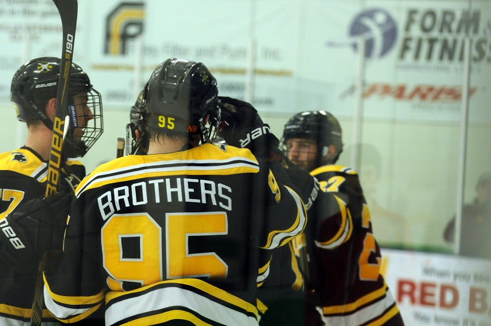 Kyle Brothers registered six points during Adrian's NCHA sweep at CUW this weekend. (Photo courtesy of John B Hoy II)