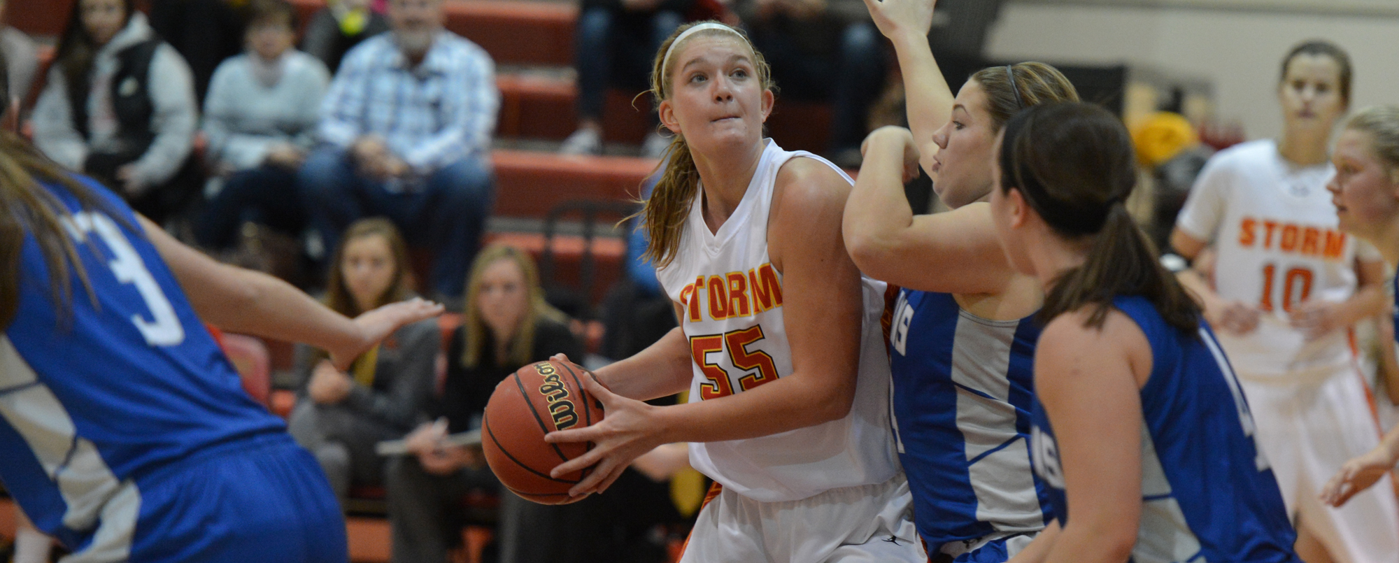 Morrow posts double-double in loss to Whitewater