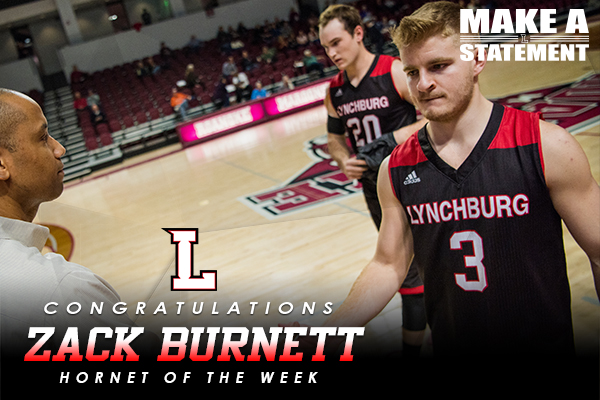 Hornet of The Week: Zack Burnett (1/10-1/17)