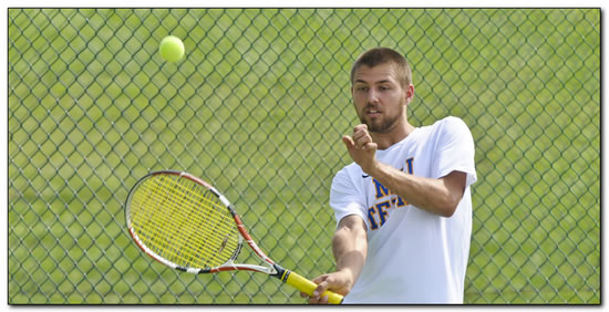 Lions men's tennis falls at home to HCAC-foe Transylvania University, 8-1
