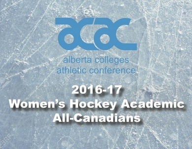 2016-17 ACAC Women's Hockey Academic All-Canadians