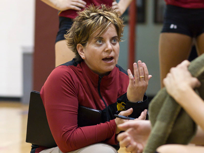 Theresa Beeckman selected as assistant women's volleyball coach at Central Michigan.  (Photo by Ben Amato)
