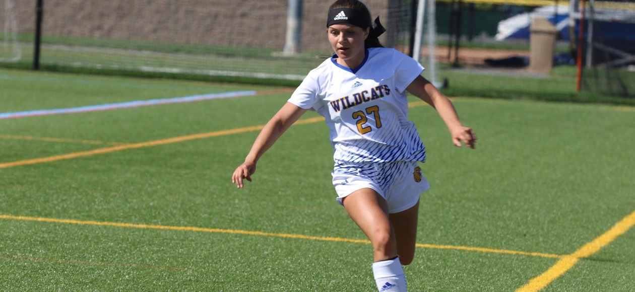 Patriarca Hat Trick Gives Women's Soccer Win