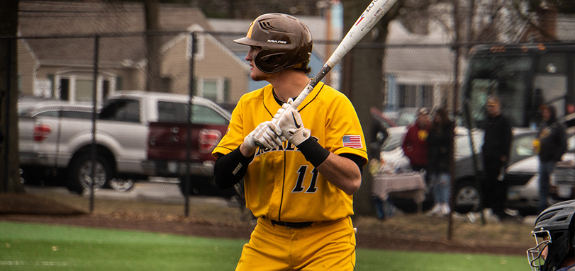 Sophomore Alex Ludwick had three RBI and two doubles in the 9-5 game one victory over Heidelberg (Photo Courtesy of Alec Palmer)