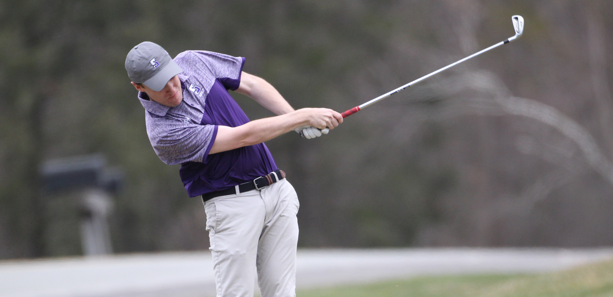 Senior Michael Boland became the fourth Royal in school history to win a conference championship in men's golf when he won the Landmark Conference title on Sunday.
