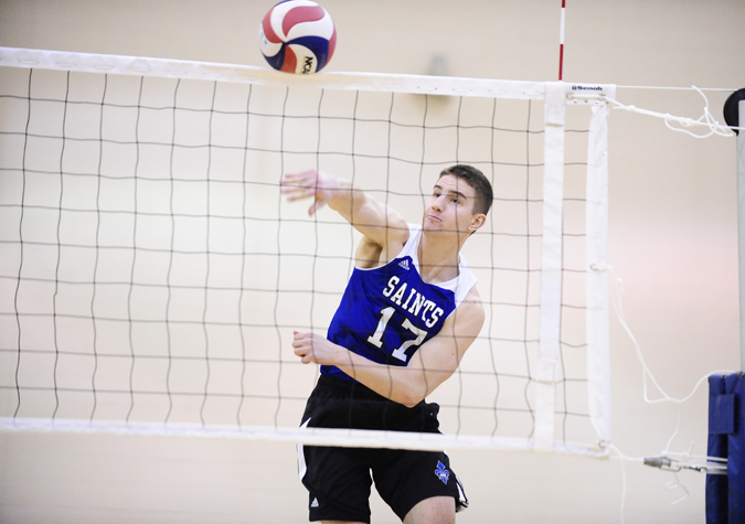 Men's Volleyball Falls in CVC Action