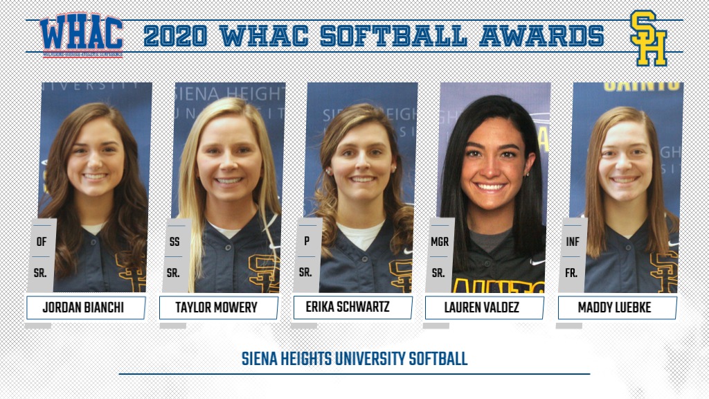 Five SHU Softball Athletes Named in WHAC Honors