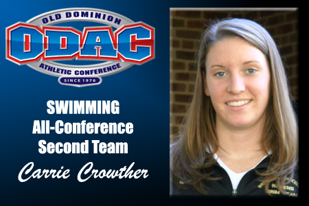 Crowther Earns Second Team All-ODAC Honors