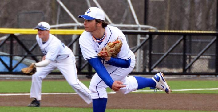 Mueller, Adams pitch Baseball to NAC Tournament berth