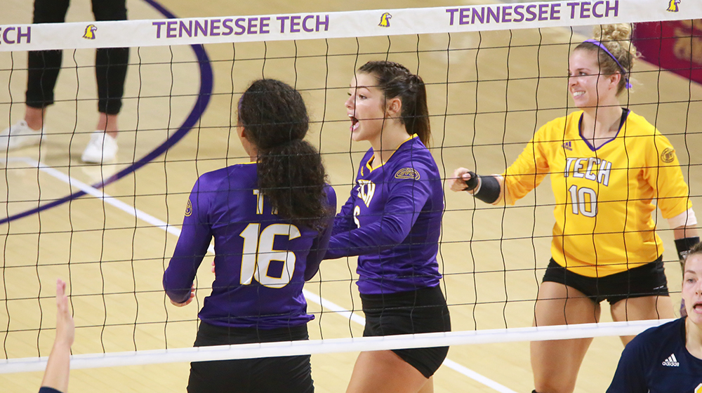Tech volleyball drops five-set nail biter to Eastern Kentucky in OVC opener
