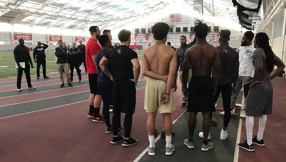 Former Penguins took part in YSU's Pro Day at the WATTS.