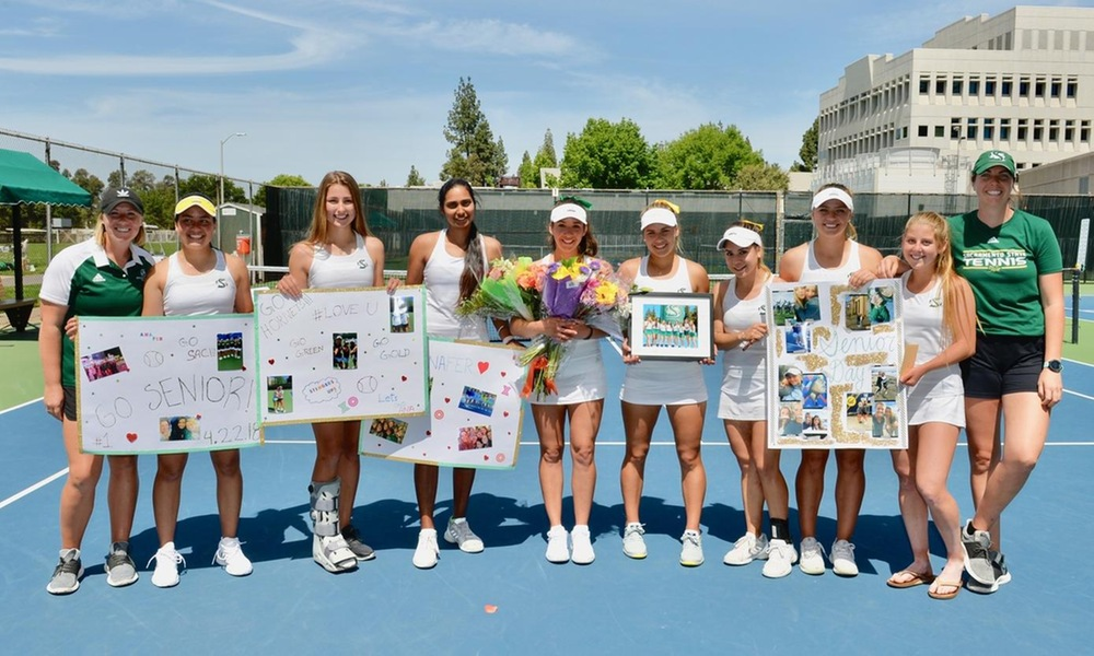 WOMEN'S TENNIS CAPS SEASON WITH DOMINANT 6-1 WIN OVER PORTLAND STATE ON SENIOR DAY