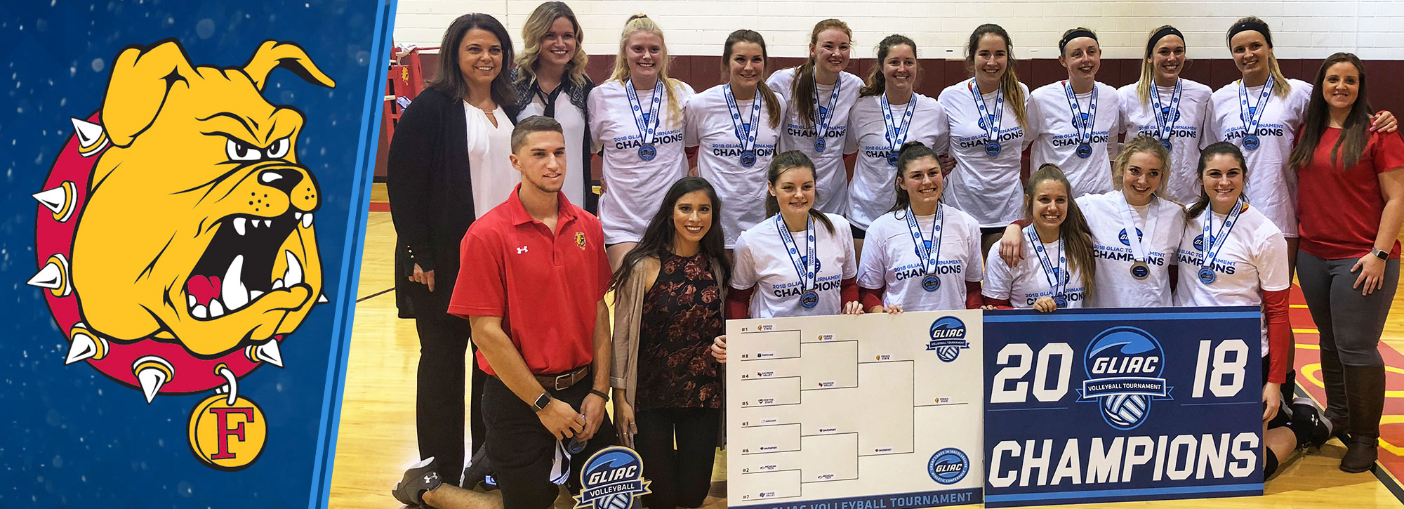 Ferris State Sweeps Davenport to Win Fifth Consecutive GLIAC Volleyball Tournament Title
