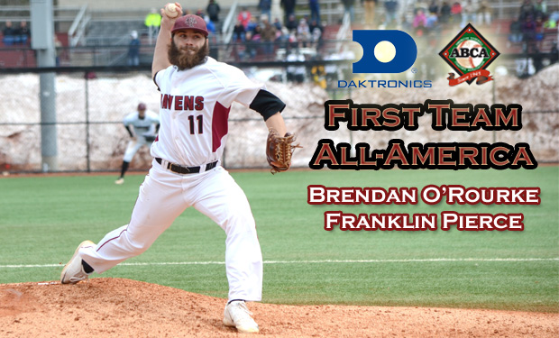 Franklin Pierce's Brendan O'Rourke Named First Team All-American by Daktronics and ABCA