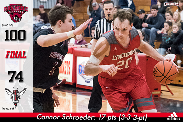 Connor Schroeder drives with the basketball.